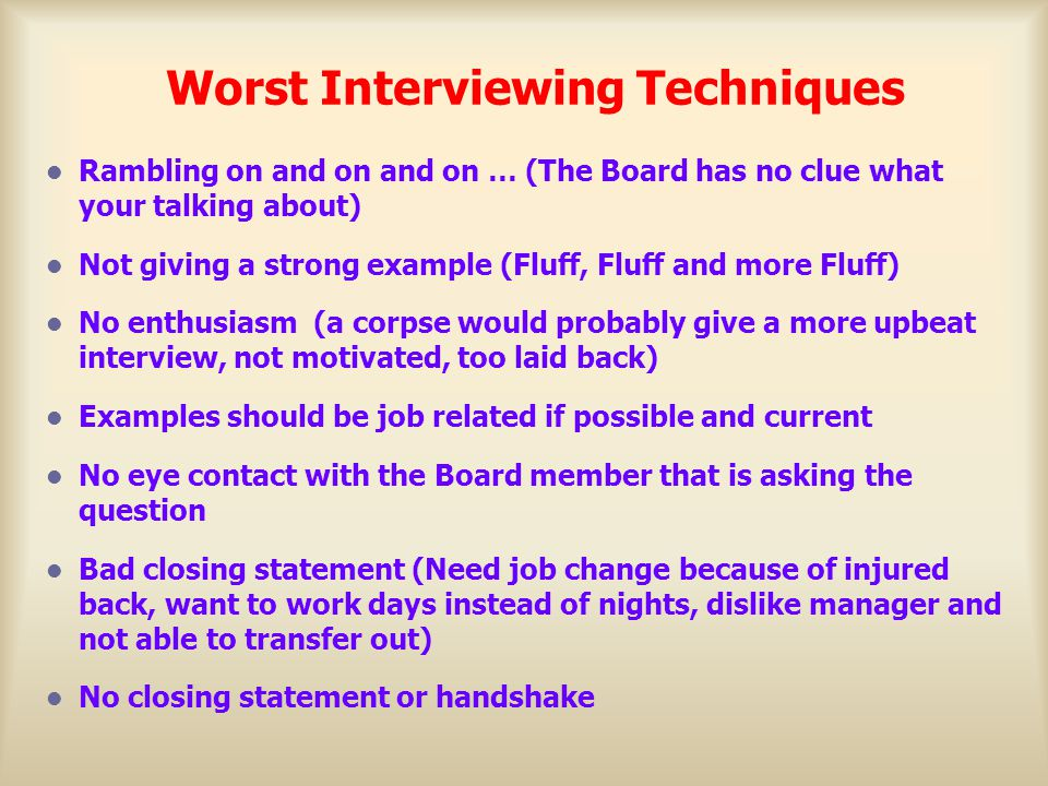 Interview Tips - ppt download