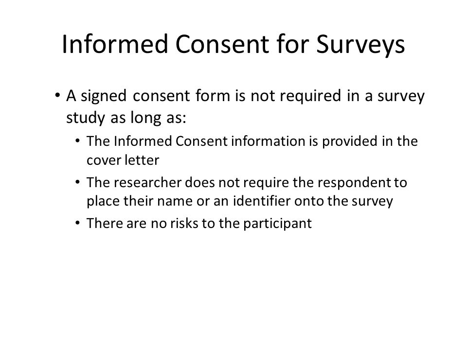 Cover Letters for Survey Research Studies - ppt download