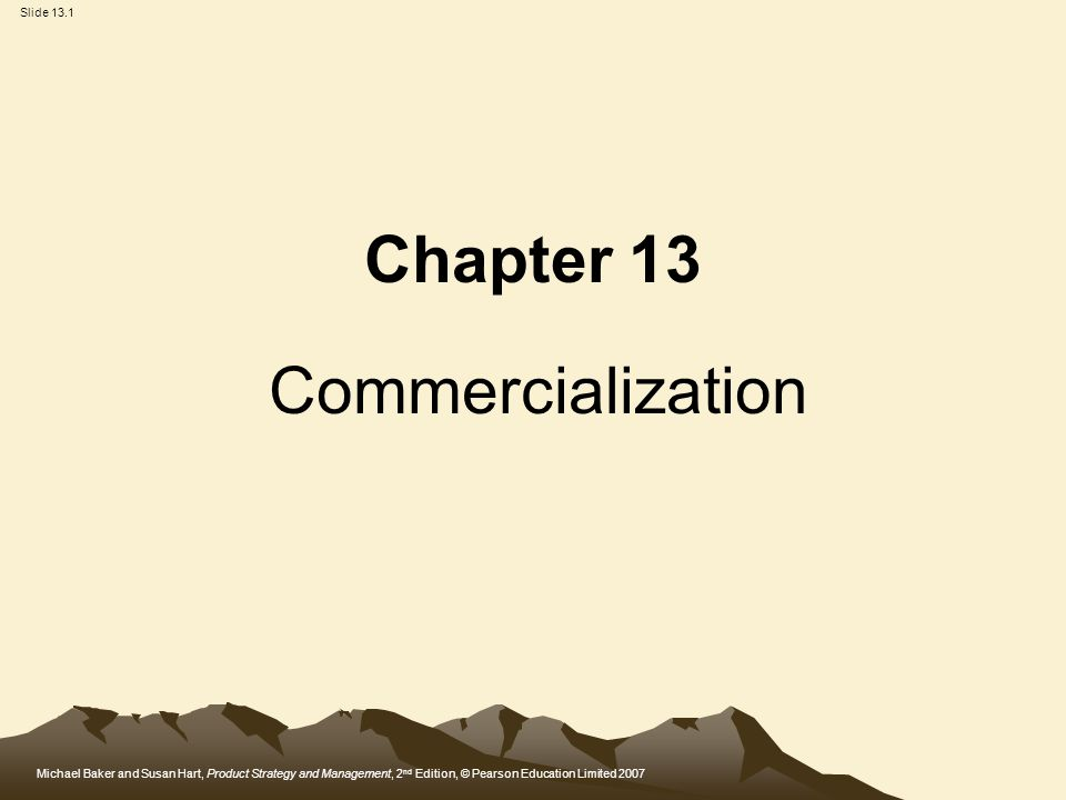 Chapter 13 Commercialization - ppt video online download