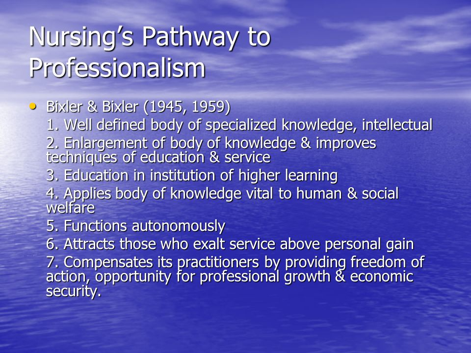 Chapter 3 The Professionalization of Nursing - ppt video online
