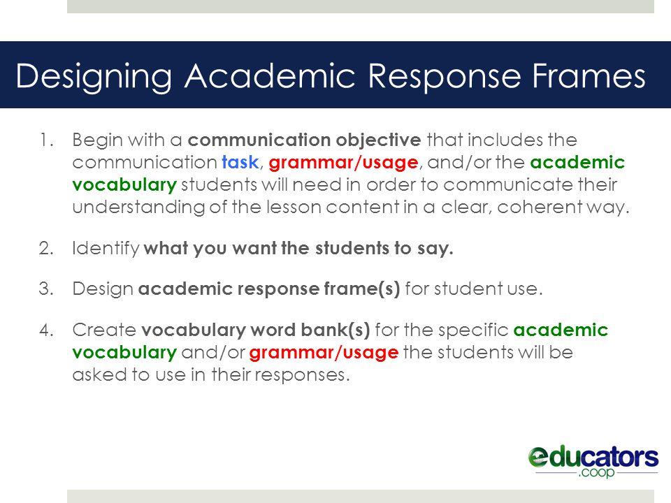 Designing Academic Response Frames - ppt download - word design frames