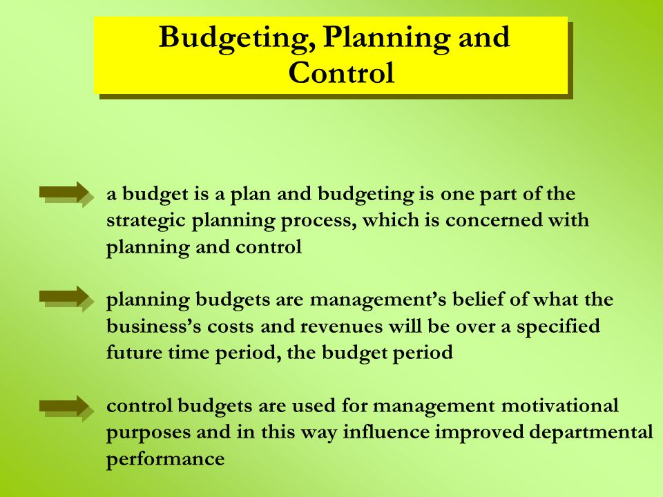 Planning and Budgeting - ppt video online download