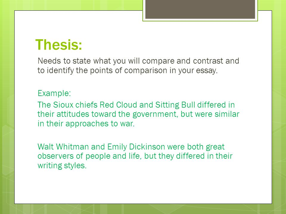 Compare-Contrast Expository Essay - ppt video online download