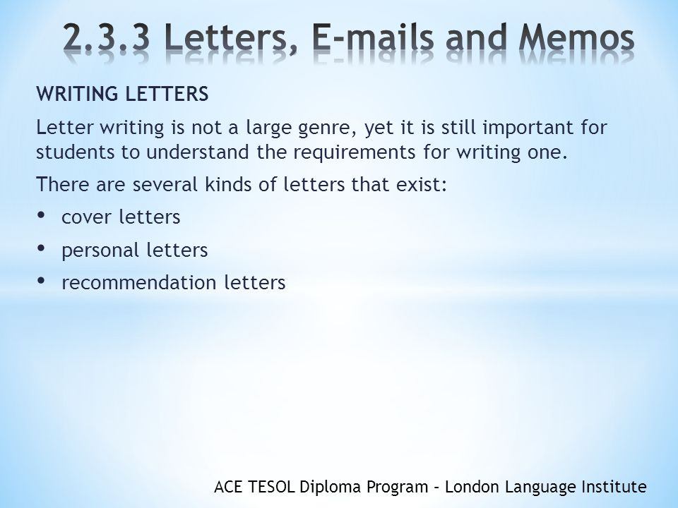 objectives you will understand the format of letters s and memos standard letter of