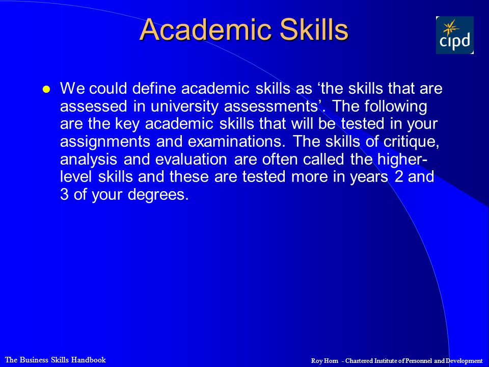 The Business Skills Handbook - ppt video online download