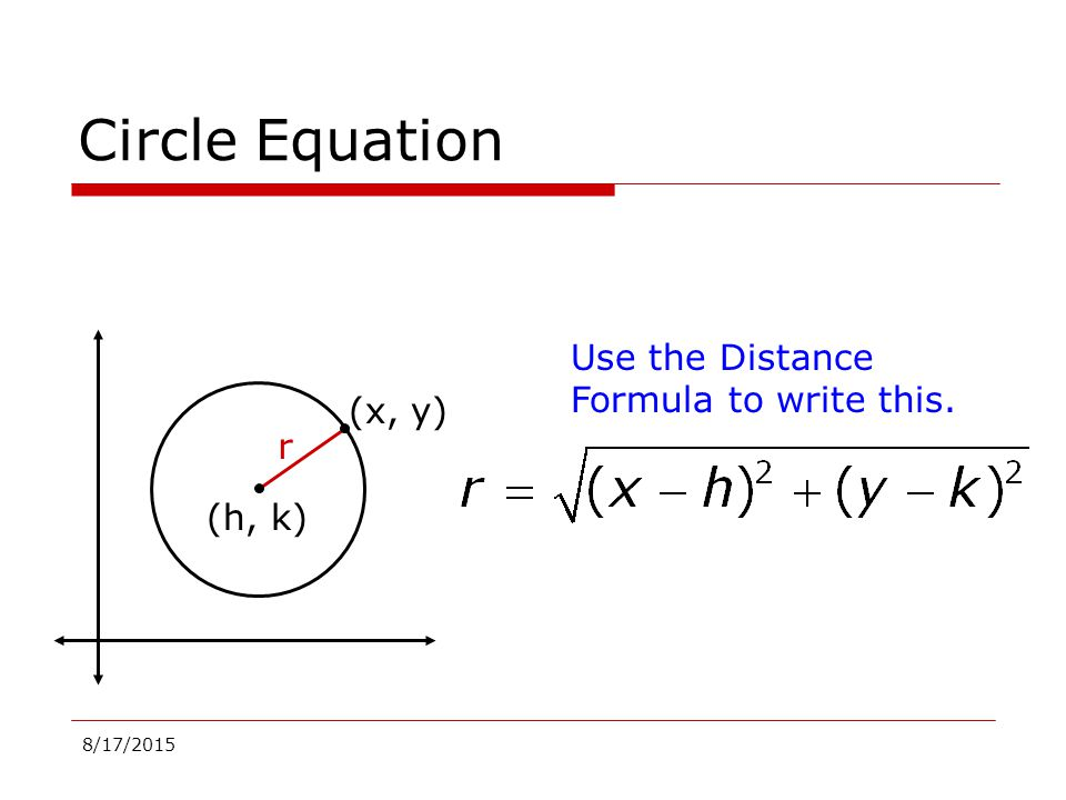 Geometry Equations of a Circle - ppt video online download