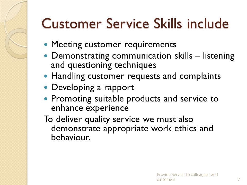 Provide Services to Colleagues and Customers - ppt video online download