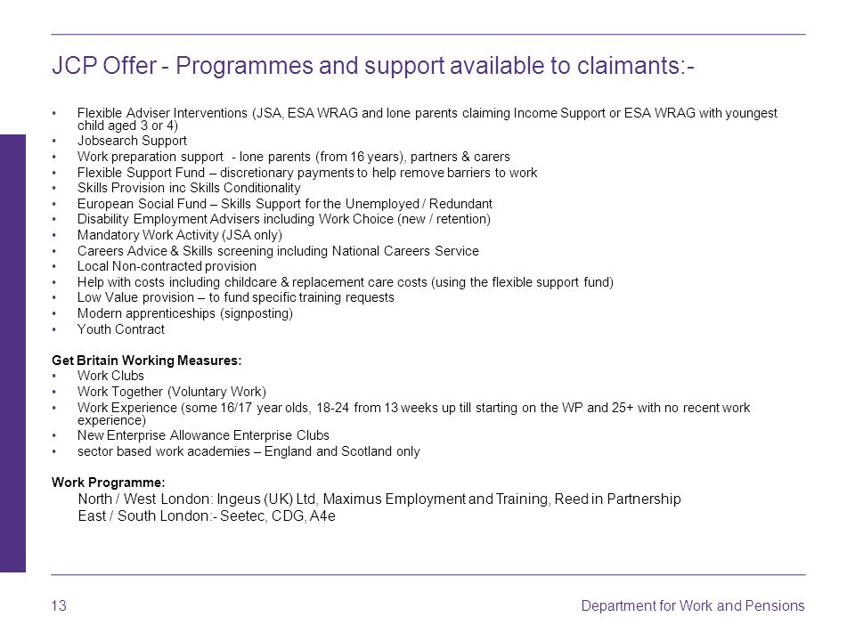 Dee Solanki Jonathan Chater DWP North London District - ppt download