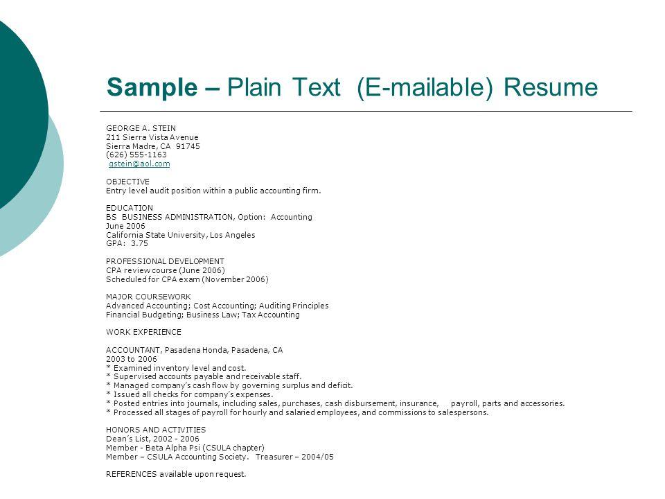 Resume Writing Workshop - ppt download