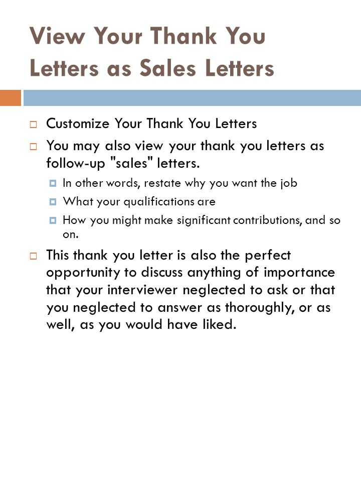 Thank You Letters - ppt video online download