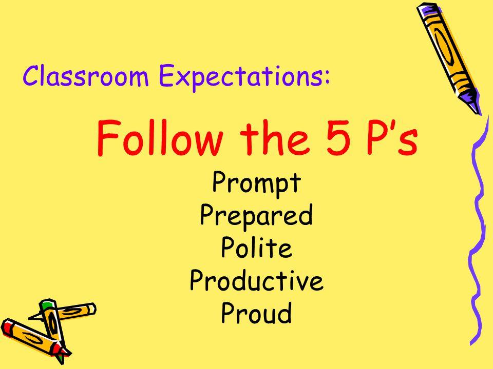 Classroom Procedures  Expectations - ppt video online download