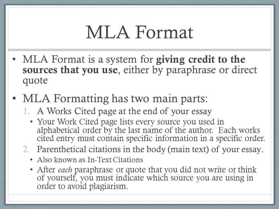 Revisions and Formatting - ppt download - mla format