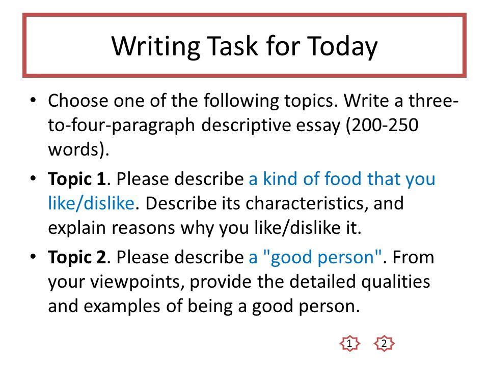 Unit 2 Descriptive Essays - ppt video online download