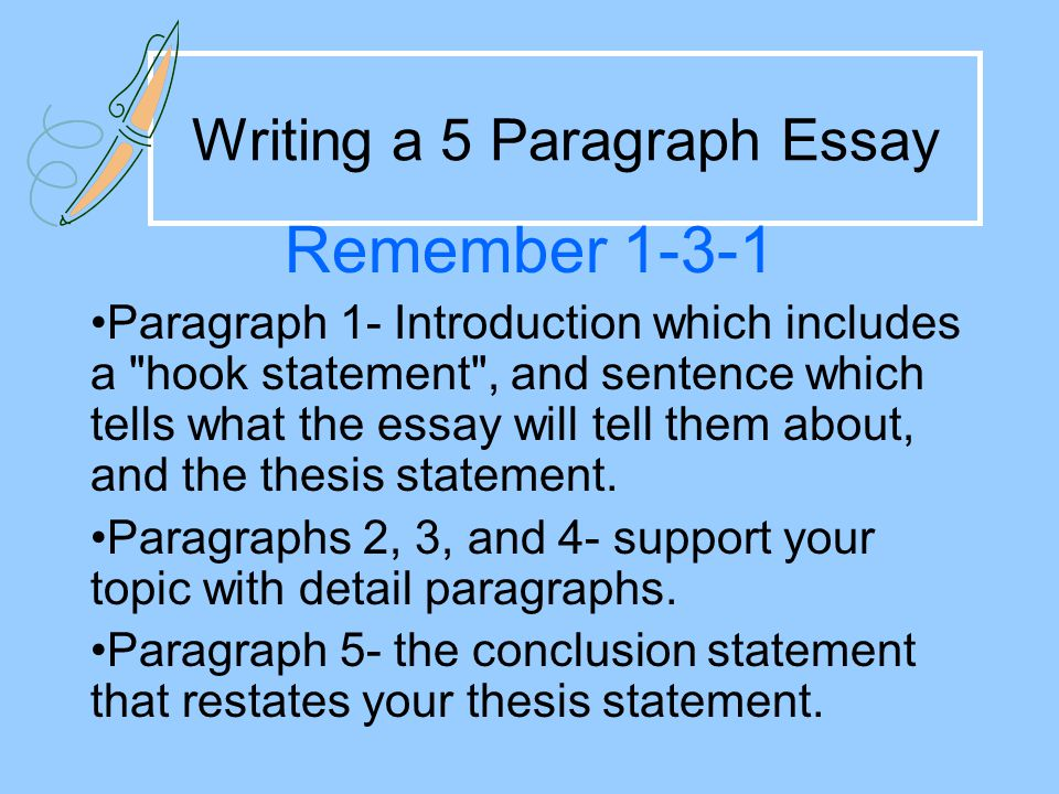 Writing A 5 Paragraph Essay Ppt Video Online Download