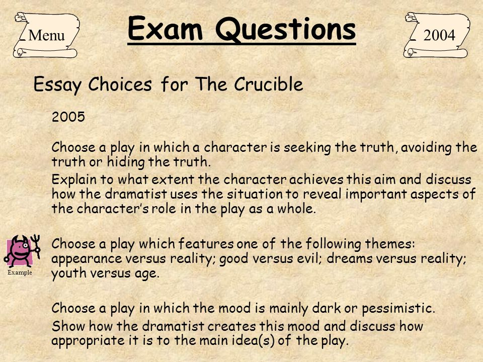 The crucible essay topics College paper Service vbassignmentwdey