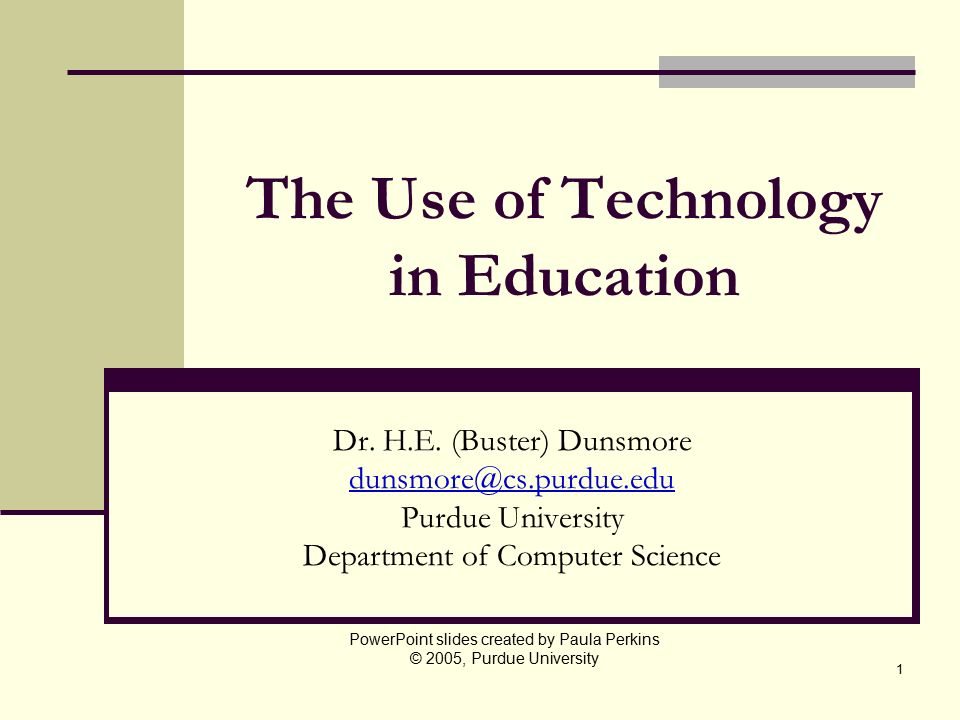 The Use of Technology in Education - ppt video online download