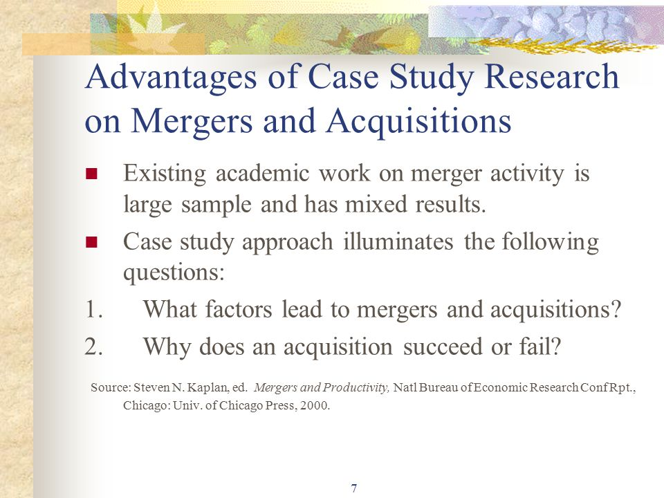 Merger and acquisition case study analysis Research paper Writing - Case Analysis