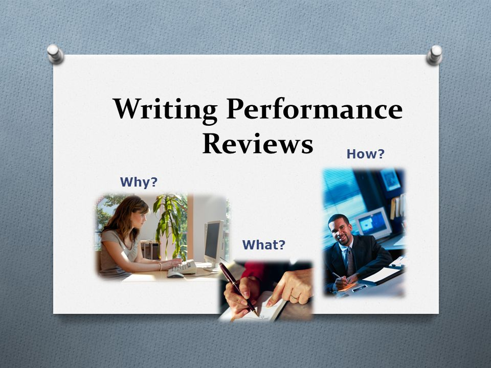 Writing Performance Reviews - ppt video online download