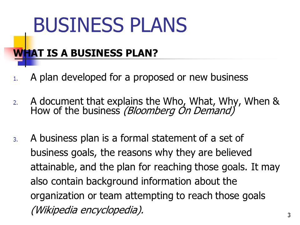 OVERVIEW OF THE BUSINESS PLAN - ppt video online download