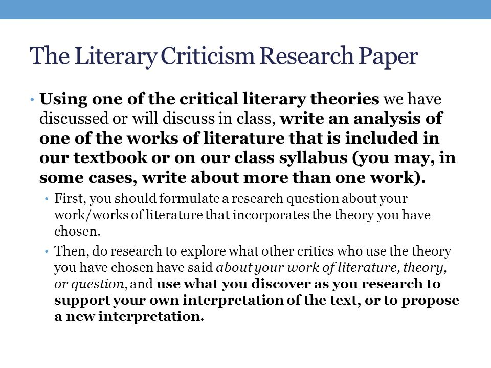 Researching Literature - ppt download