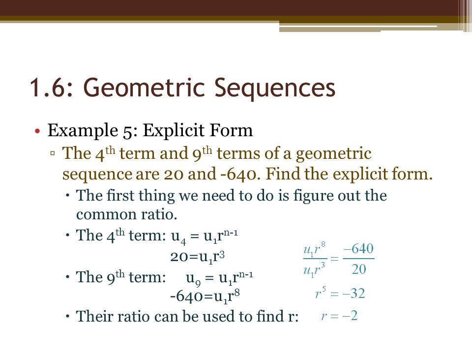 Chapter 1 Number Patterns 16 Geometric Sequences - ppt video - geometric sequence example