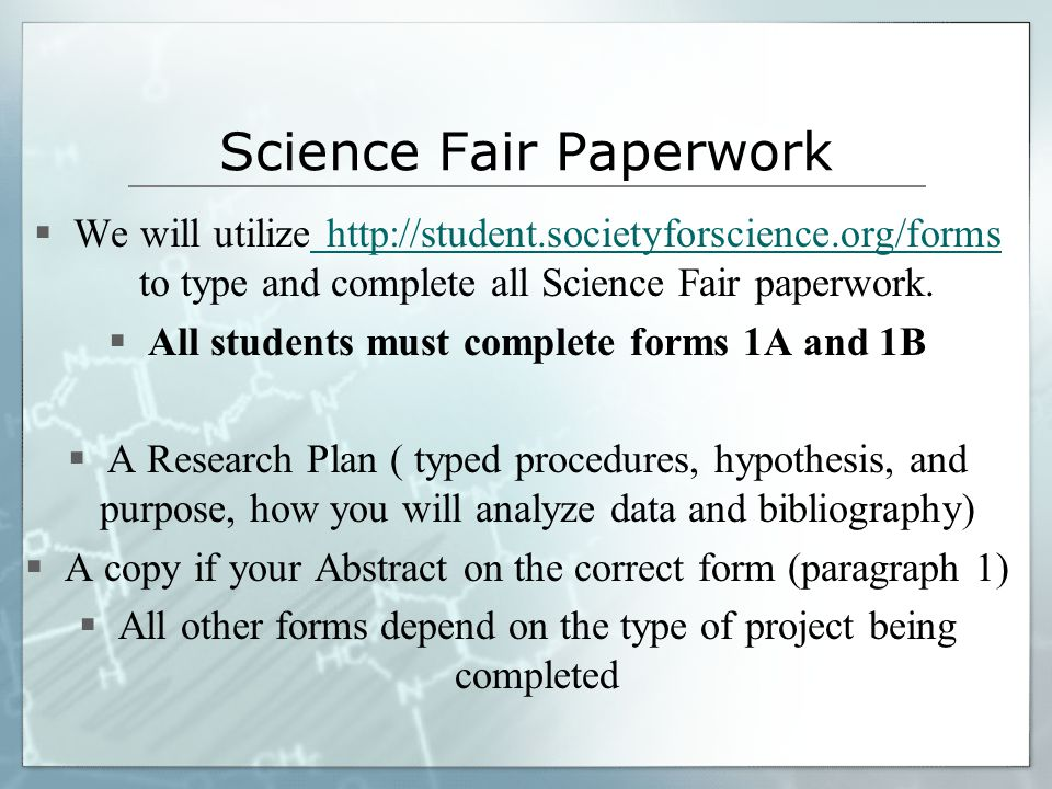 Science Fair Projects - ppt download
