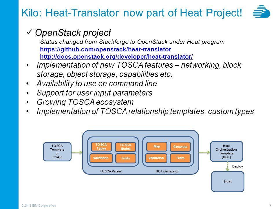 TOSCA Workloads with OpenStack Heat-Translator - ppt video online