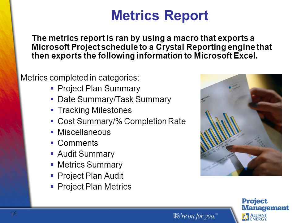 Office of Project Management Metrics Report Presentation - ppt video