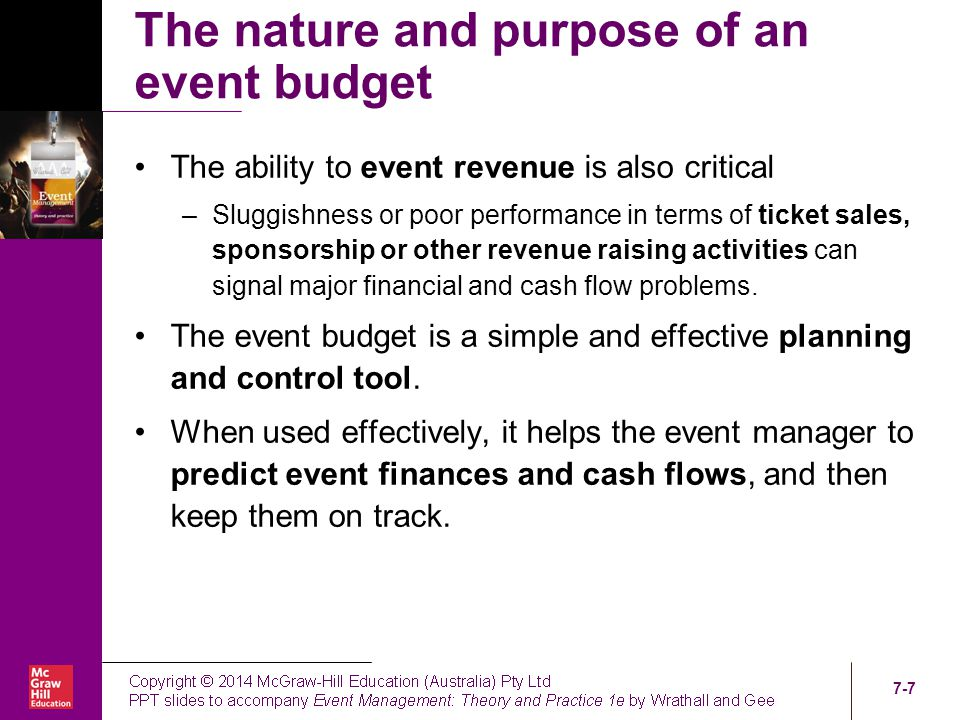 Chapter Seven Event Budgeting - ppt video online download