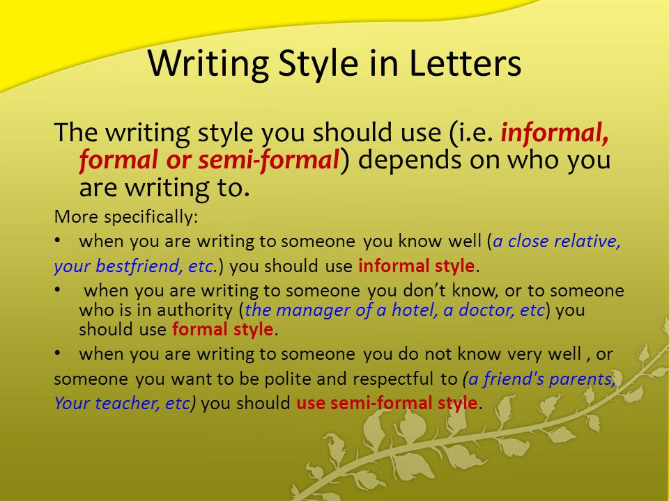 Agenda Types of letters; Layout of letters; Writing style in