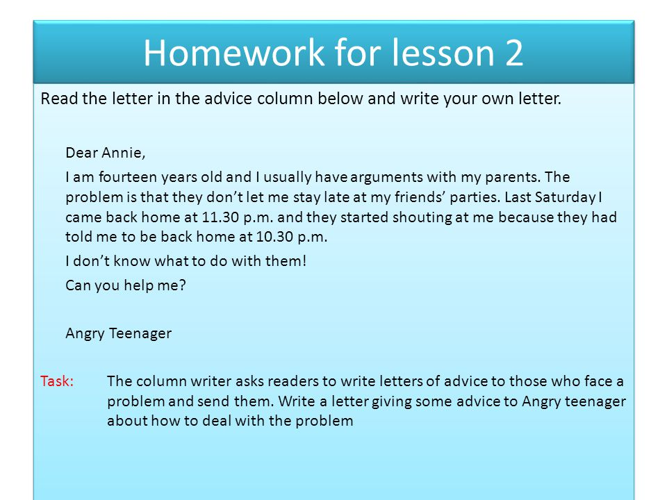 How to write a letter giving advice - ppt video online download