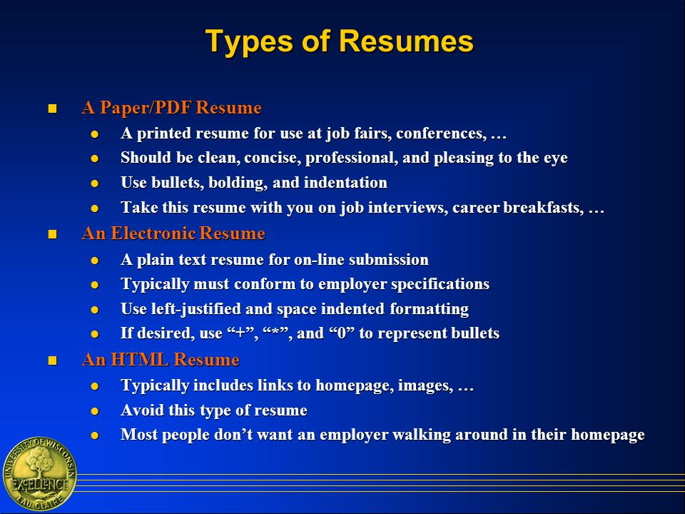 Types of resumes samples 122874 - 1cashinginfo - 4 types of resumes