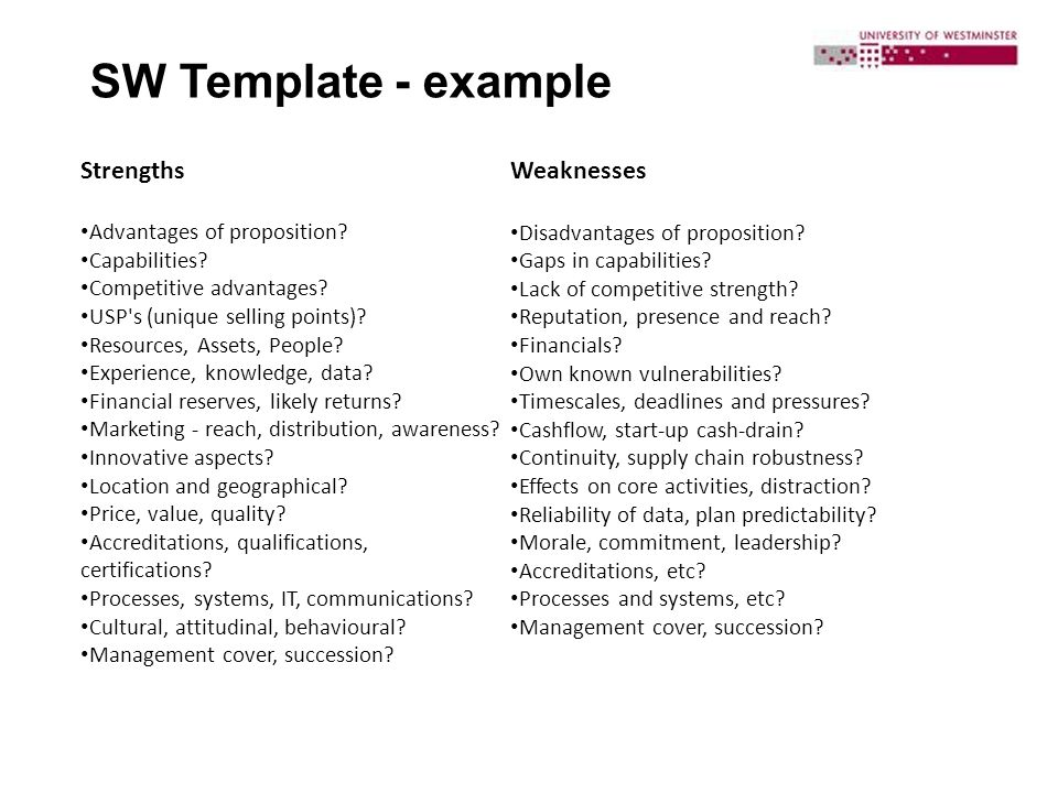 Strengths And Weaknesses Matrix 2013 AGCReWall cvfreeletters