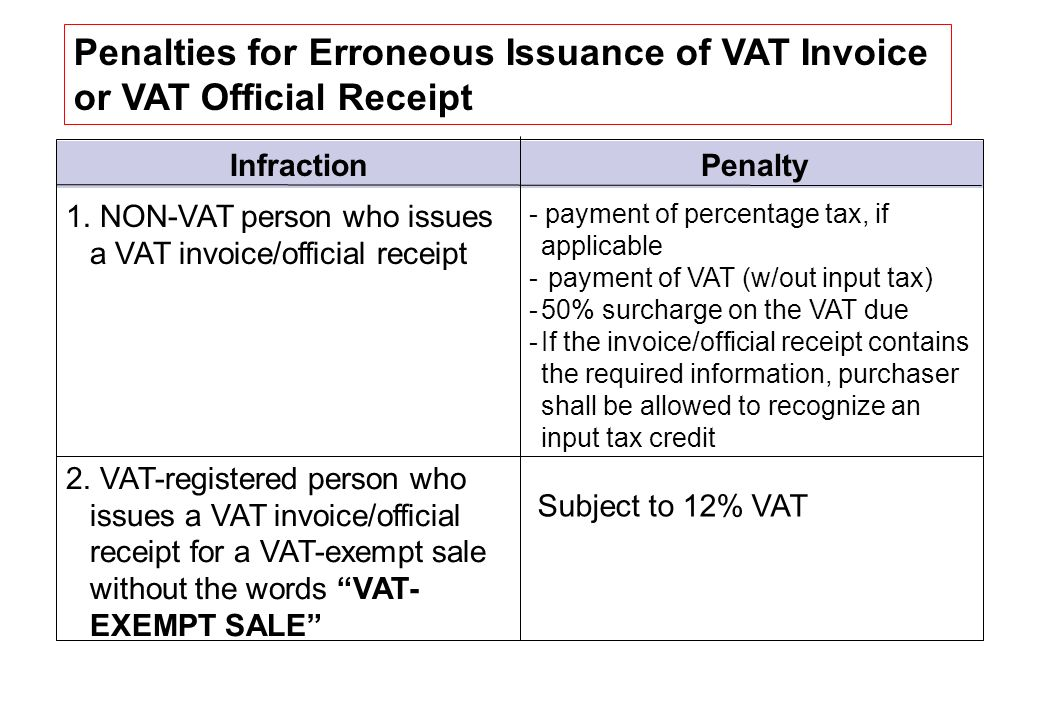 VALUE ADDED TAX (VAT) VAT Liable, Zero-Rated, Effectively Zero-Rated