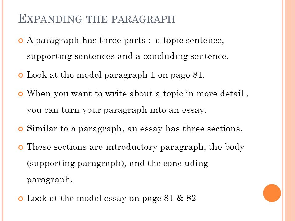Eng 105- writing chapter 5 from paragraph to essay - ppt video