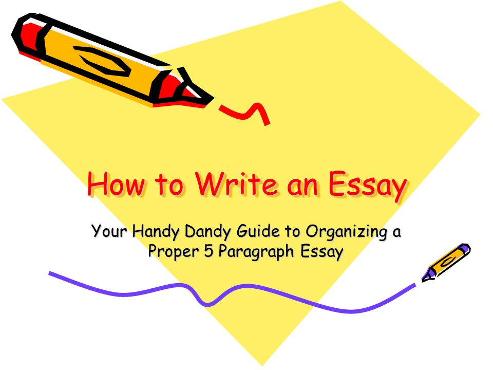 Your Handy Dandy Guide to Organizing a Proper 5 Paragraph Essay