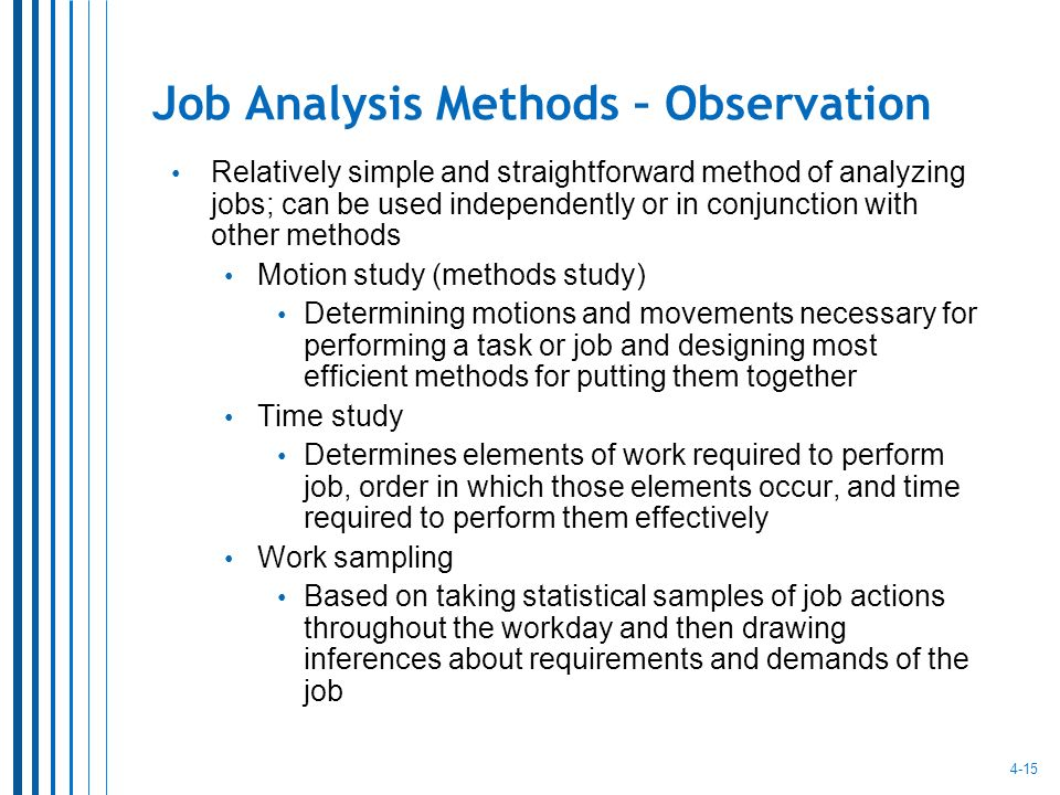 Job Analysis and Job Design - ppt video online download - job analysis