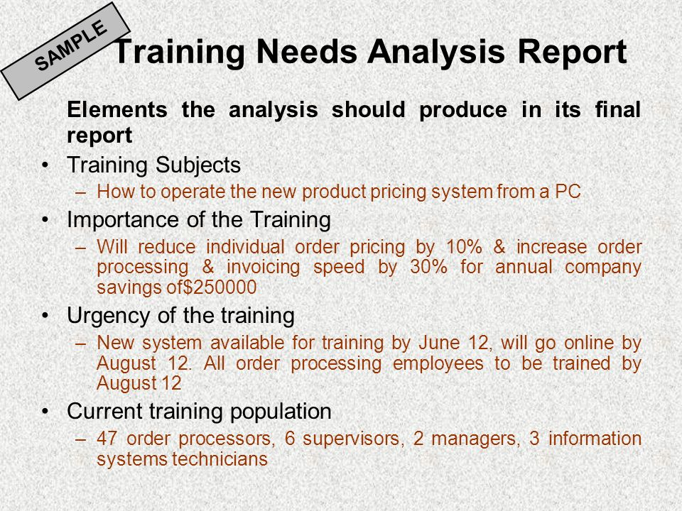 Needs Assessment  Analysis - ppt video online download