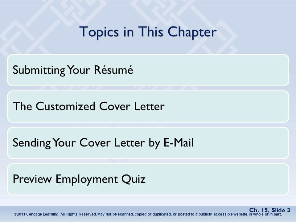 Chapter 15 The Job Search, Résumés, and Cover Letters - ppt video