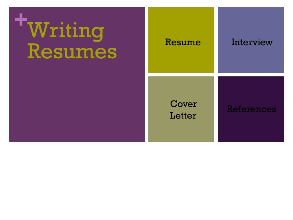 Writing Resumes Resume Interview Cover Letter References - ppt download