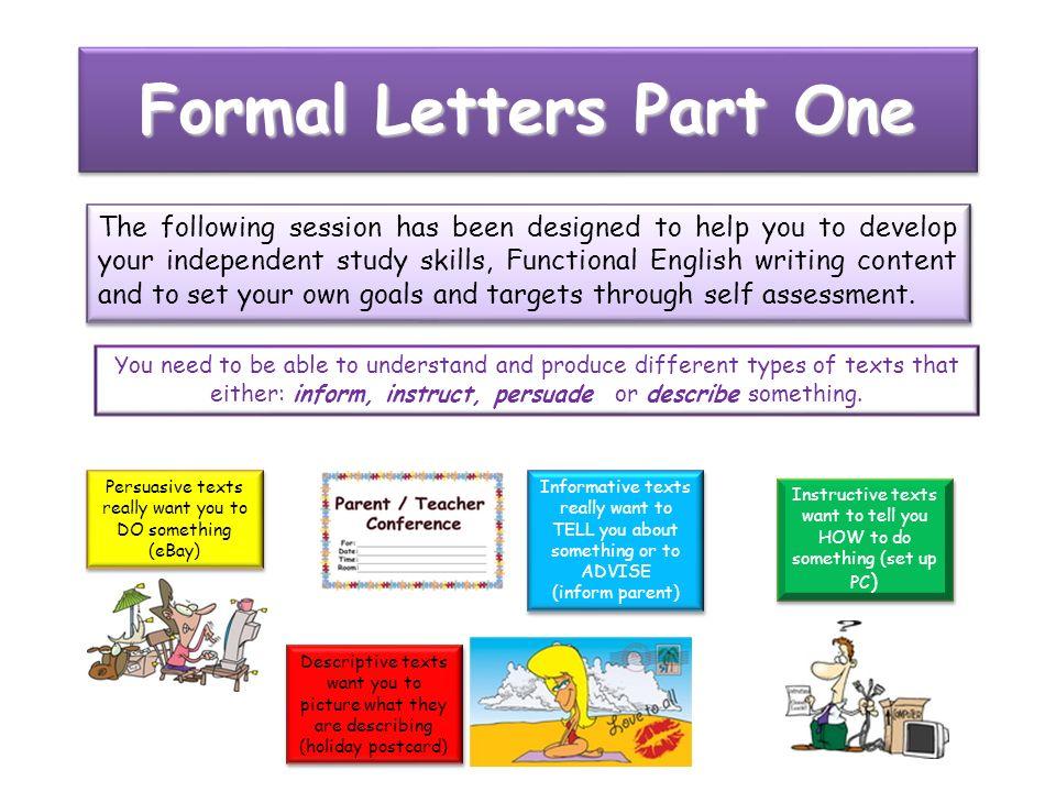 iTrackR Ed Formal Letters Informal or formal language - ppt video