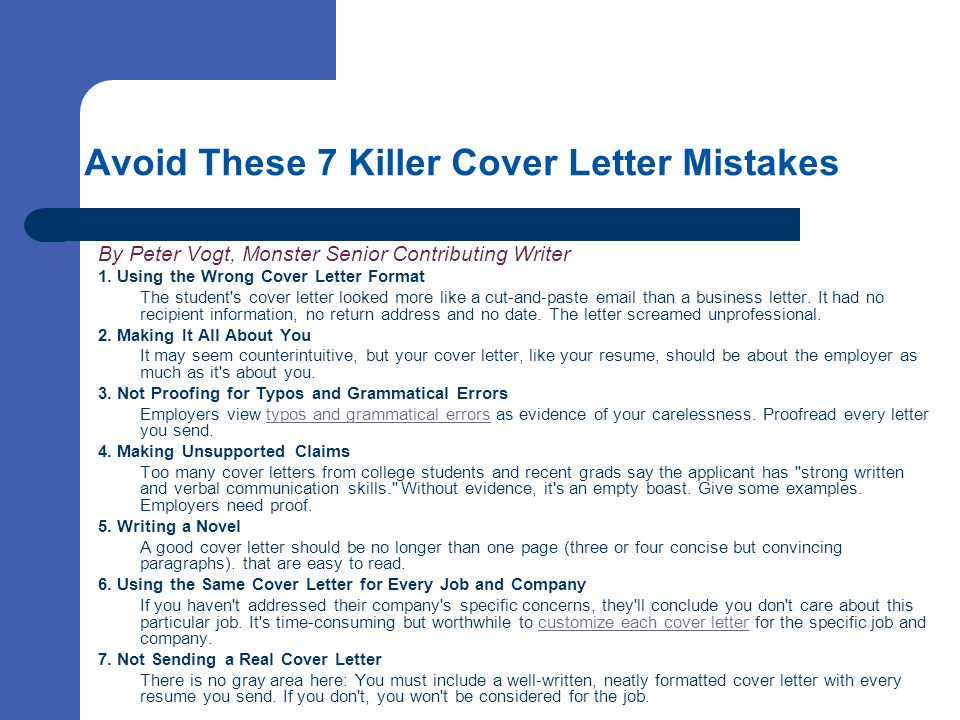 Cover Letters Selling your skills on paper - ppt video online download