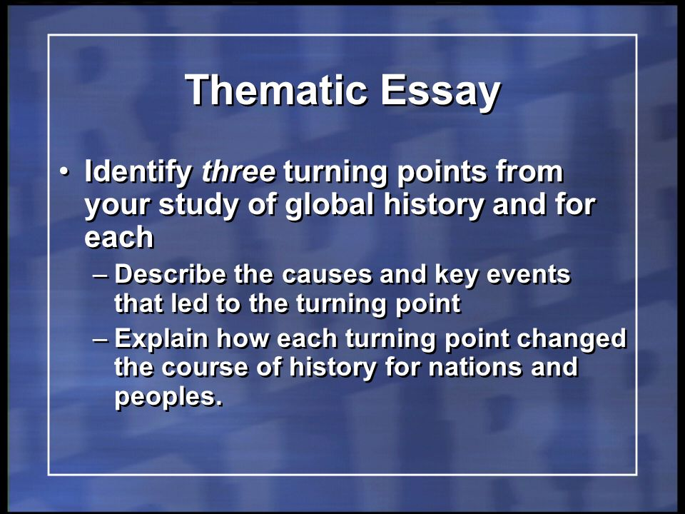 Global thematic essay regents College paper Writing Service