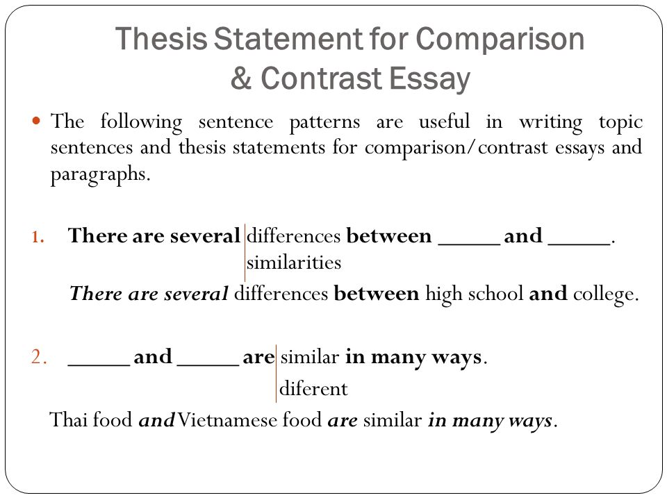 Help writing thesis statement compare contrast essay - wwwnovadmbr