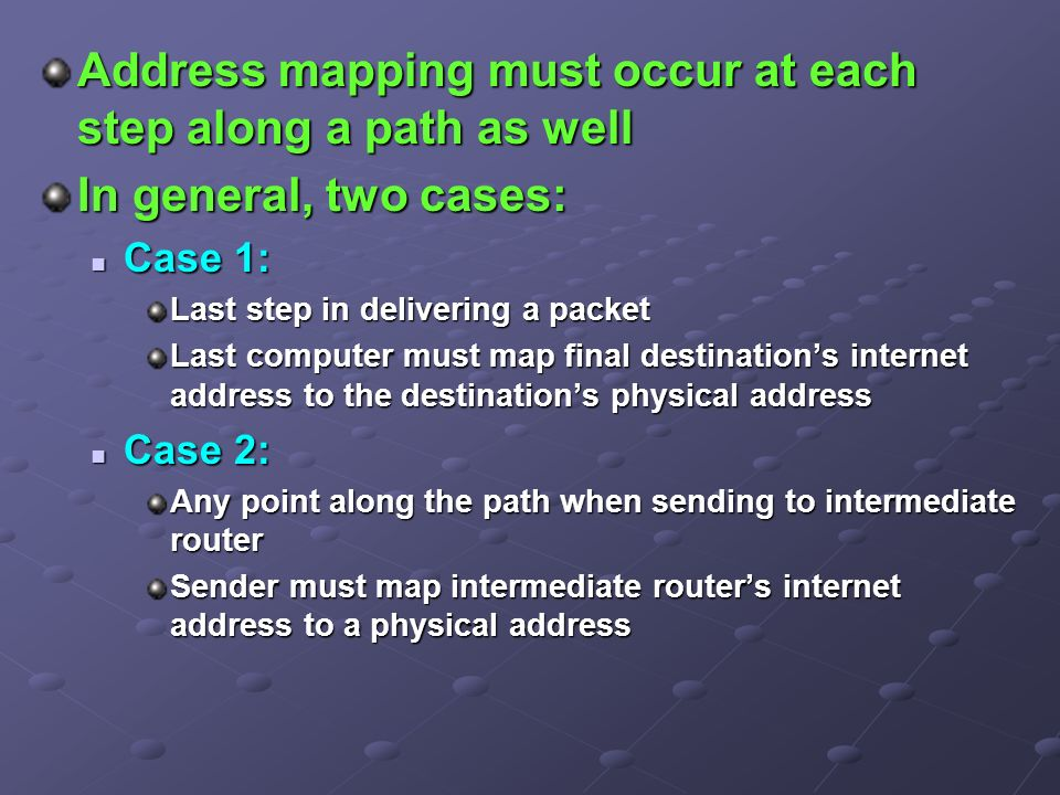 Mapping Internet Addresses to Physical Addresses (ARP) - ppt video