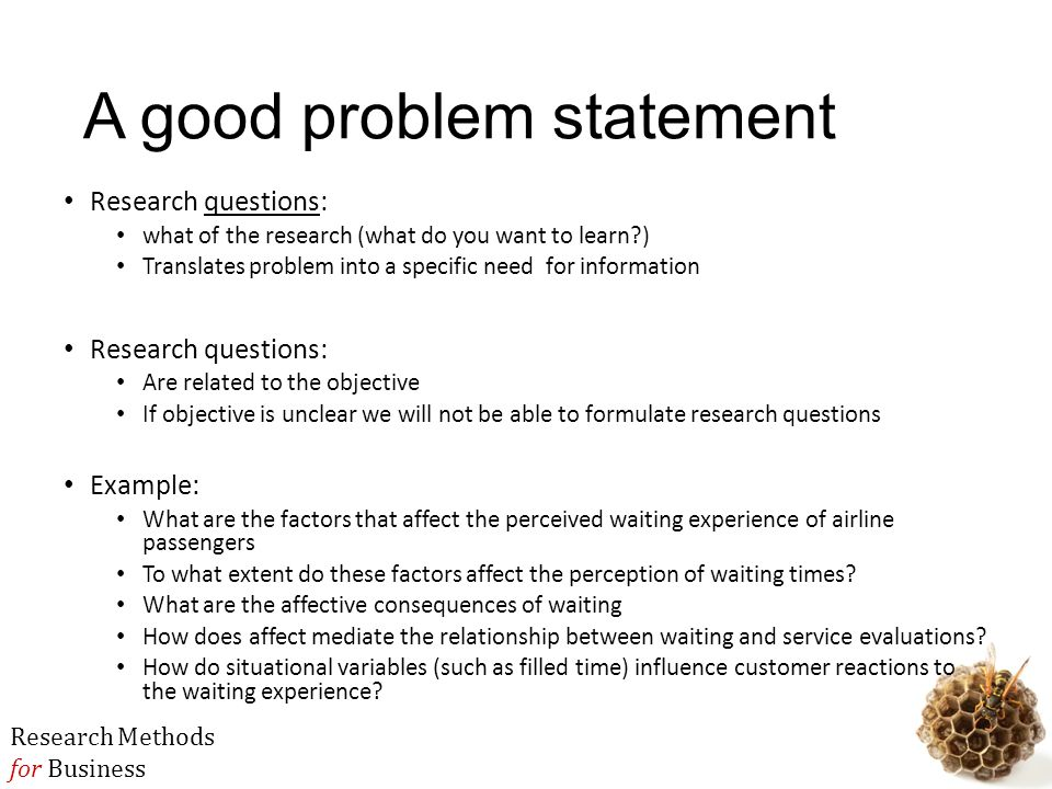 Example Of The Statement Of The Problem In Research Paper