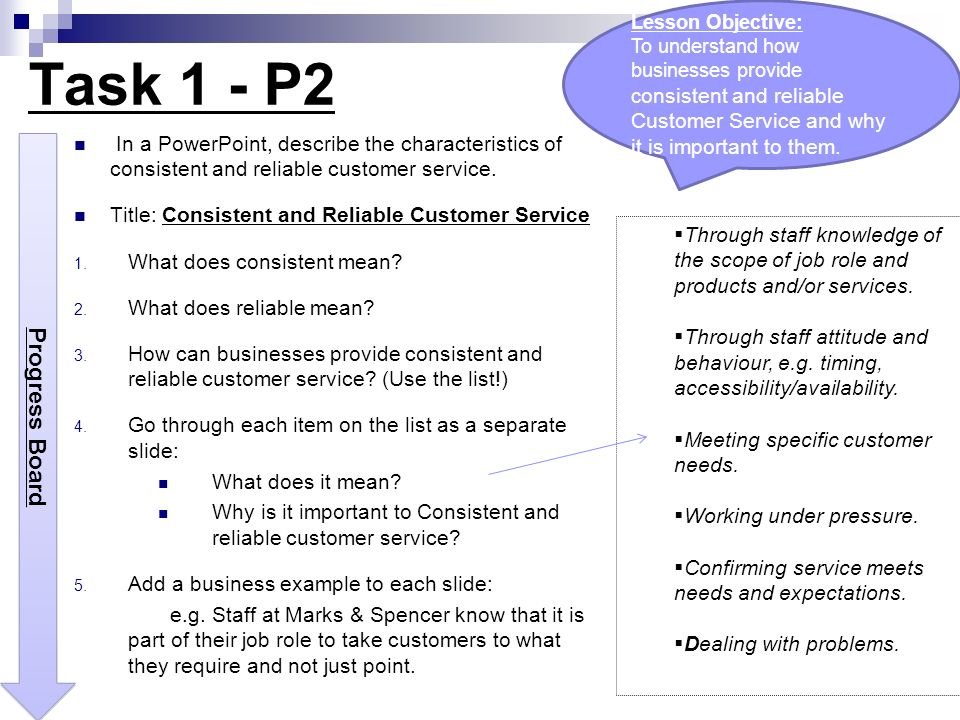 Consistent and Reliable Customer Services - ppt video online download