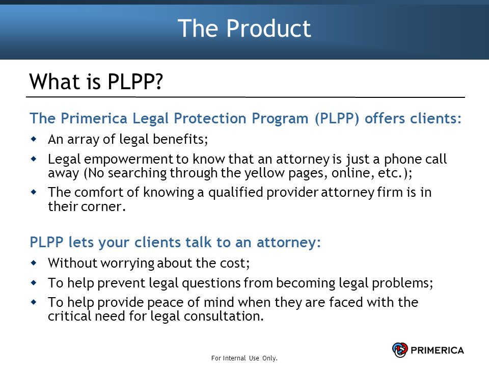 Primerica Legal Protection Program™ - ppt download