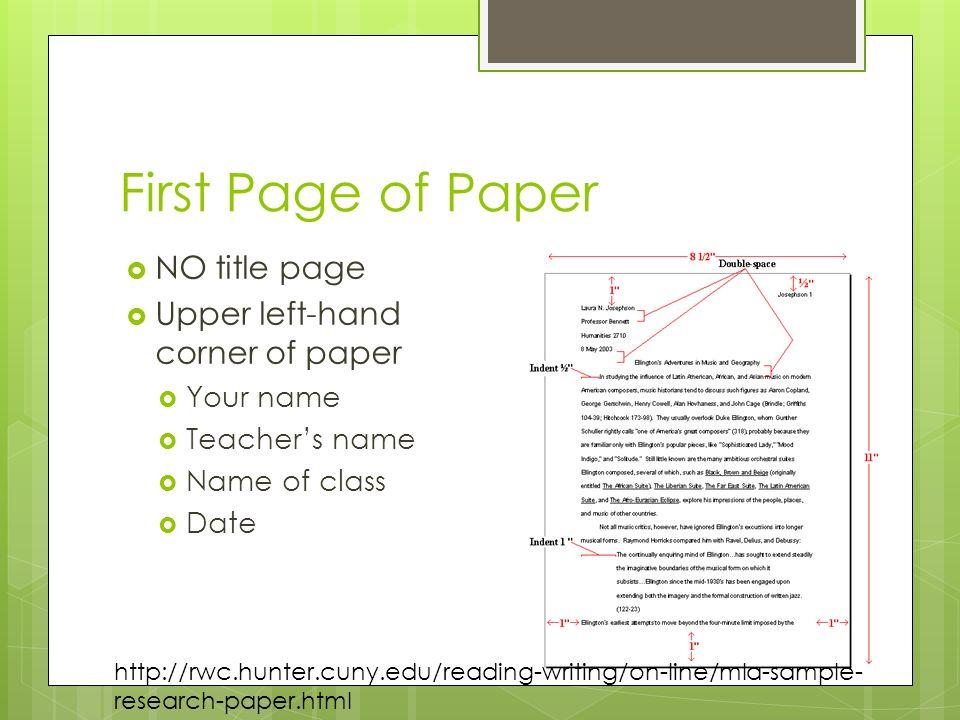 mla format research paper title page - Josemulinohouse