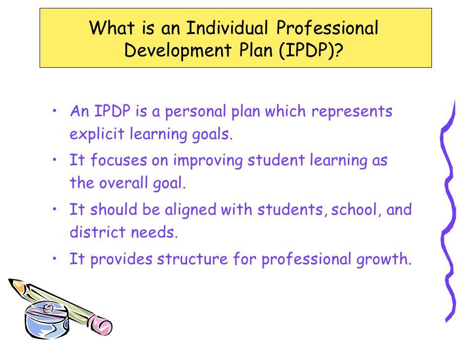 Individual Professional Development Planning for Teachers - ppt